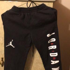 Pants - Use black air Jordan 10 12 sweat pants